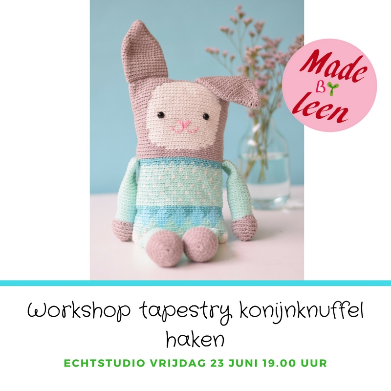 Workshop Tapestry Knuffelkonijn Made By Leen Echtstudio
