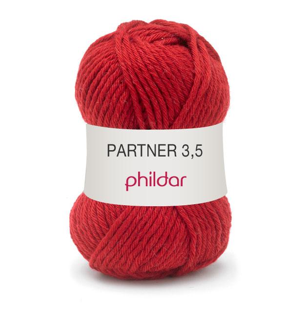 Phildar partner 3,5 084 rouge
