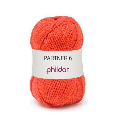 Phildar partner 6 206 vermillon