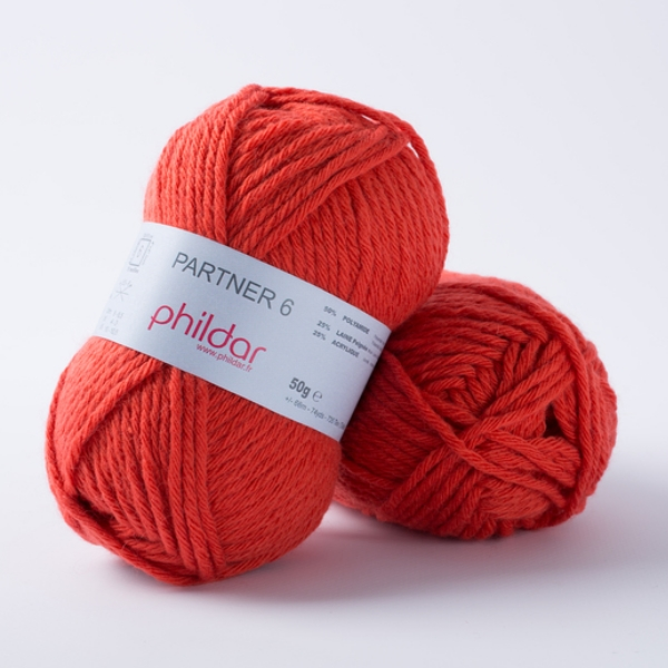 Phildar partner 6 206 vermillon-14091