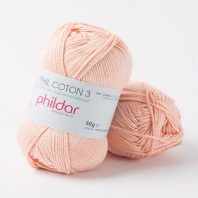 Phildar coton 3 1002 poudre