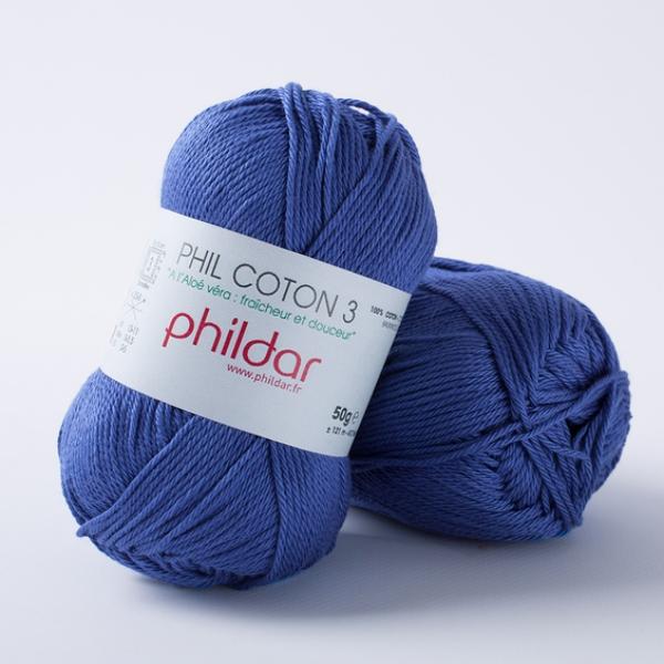 Phildar coton 3 1004 outremer