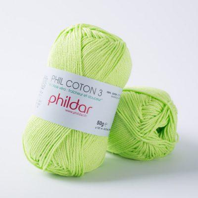 Phildar coton 3 1159 pistache