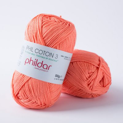 Phildar coton 3 1268 corail