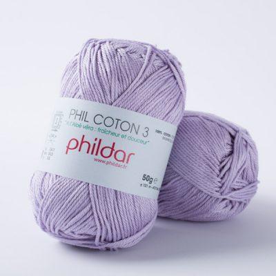 Phildar coton 3 1344 lavande