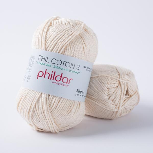 Phildar coton 3 1359 ecru