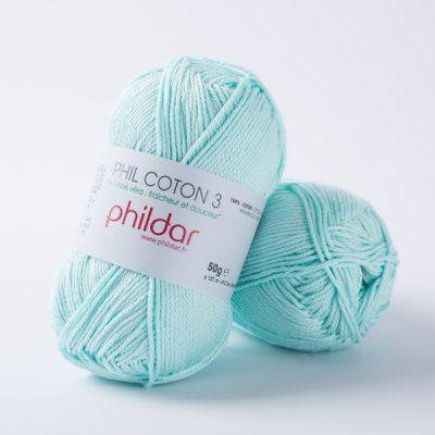 Phildar coton 3 1380 jade