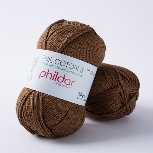 Phildar coton 3 1388 havane