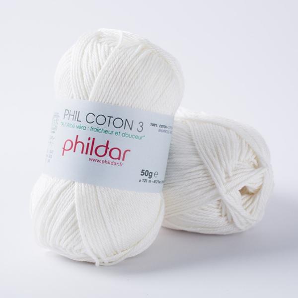 Phildar coton 3 1397 craie