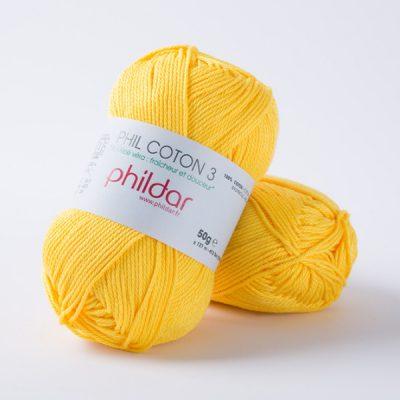 Phildar coton 3 1440 soleil