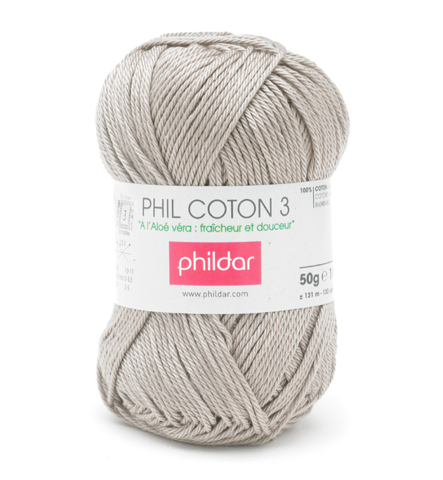 Phildar coton 3 1264 chanvre