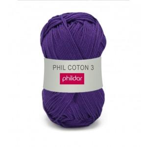 Phildar coton 3 1445 violet