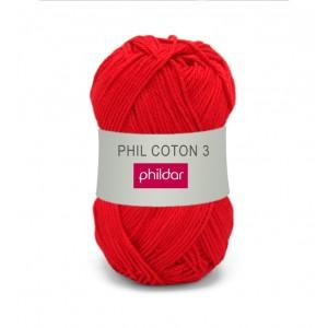 Phildar coton 3 1272 cerise
