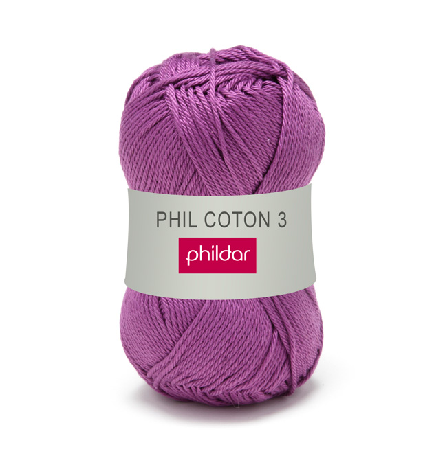 Phildar coton 3 1064 clematite