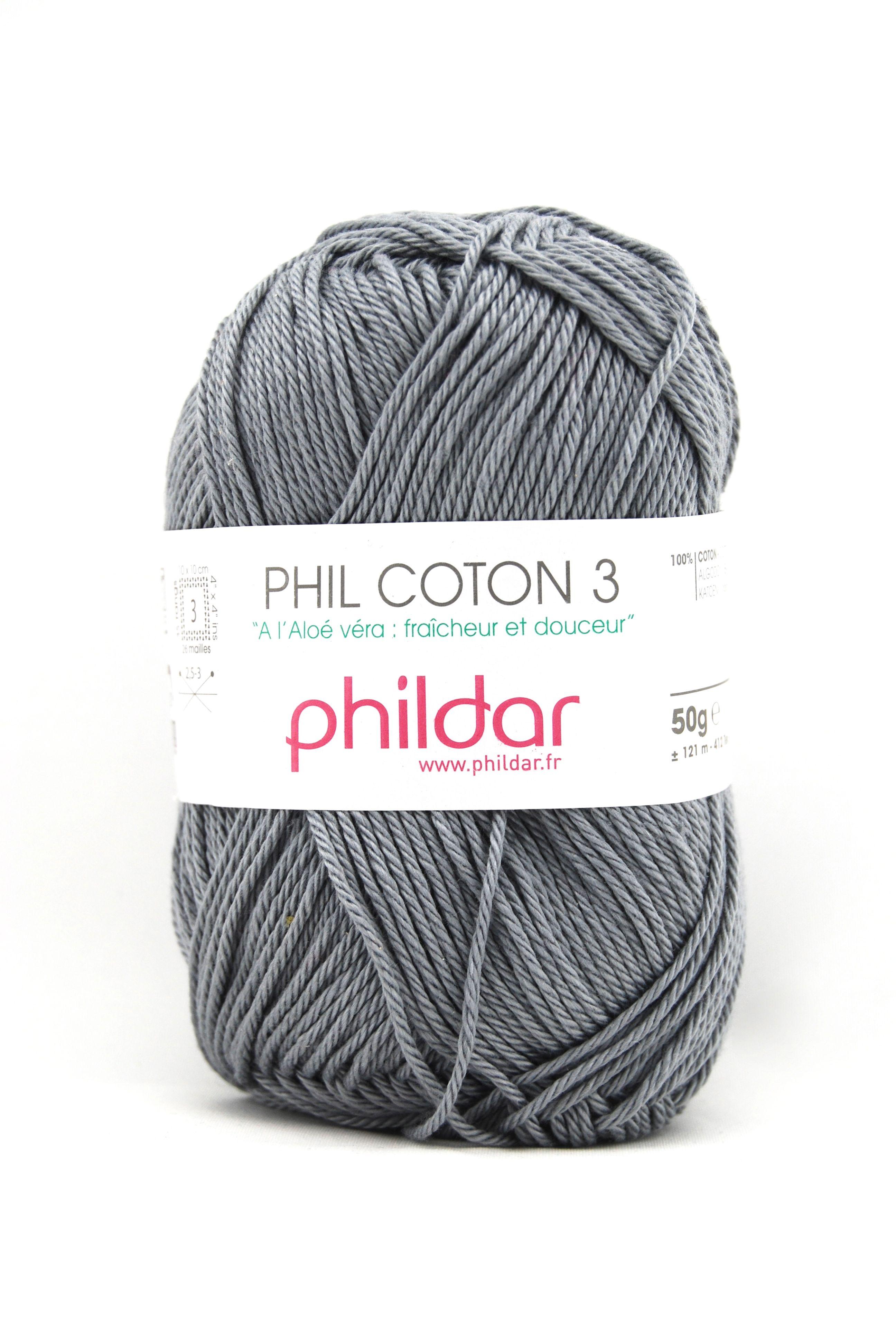 Phildar coton 3 1399 elephant