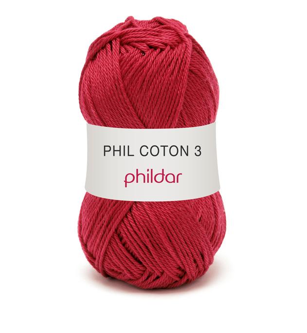 Phildar coton 3 1459 griotte