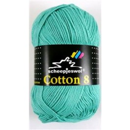 Scheepjes cotton 8 665 licht blauwgroen-793