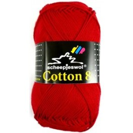 Scheepjes cotton 8 510 rood-811
