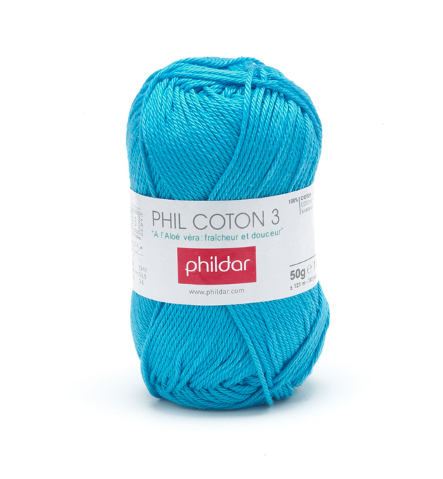 Phildar coton 3 1079 turquoise