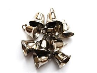 Klokje 14mm nikkel per 10 stuks-0
