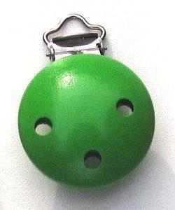 Speenclip hout groen-0