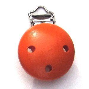 Speenclip hout oranje-0