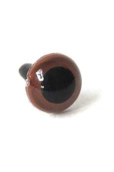 Ogen basic per paar bruin 04.50mm-0