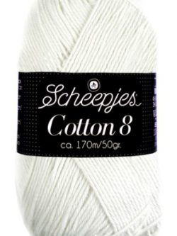 Scheepjes cotton 8 502 wit