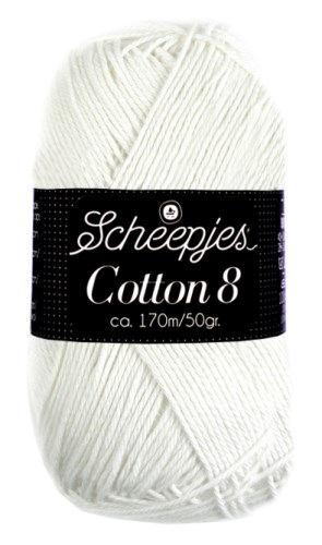Scheepjes cotton 8 502 wit