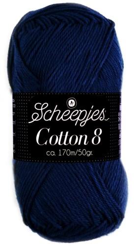 Scheepjeswol cotton 8 527 marineblauw