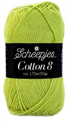 Scheepjes cotton 8 642 lichtgroen