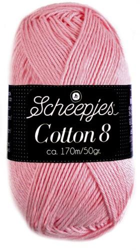 Scheepjes cotton 8 654 zachtroze