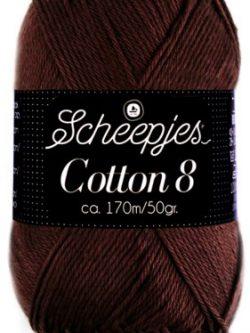 Scheepjes cotton 8 657 donkerbruin