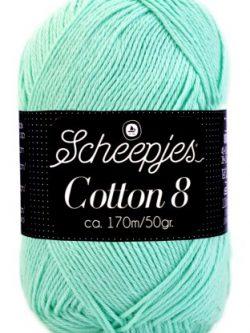 Scheepjes cotton 8 663 mintgroen
