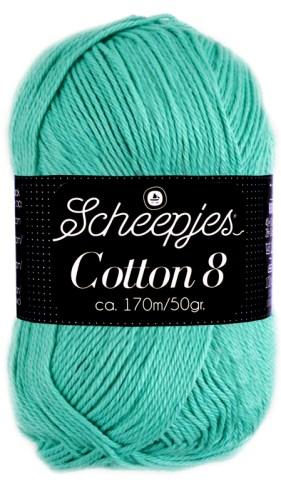 Scheepjes cotton 8 665 licht blauwgroen