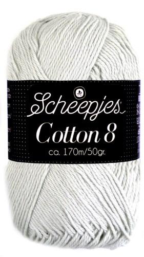 Scheepjes cotton 8 700 lichtgrijs