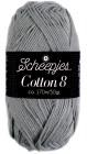 Scheepjes cotton 8 710 grijs
