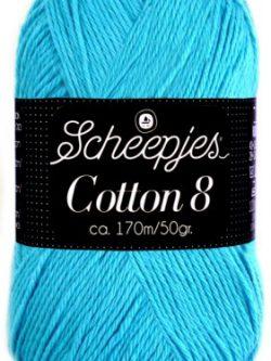 Scheepjes cotton 8 712 turquoise