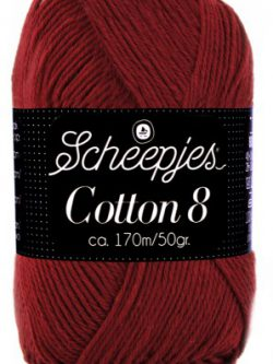 Scheepjes cotton 8 717 bordeaux