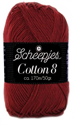 Scheepjes cotton 8 717 bordeaux