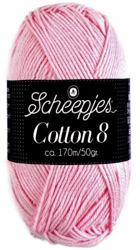 Scheepjes cotton 8 718 lichtroze