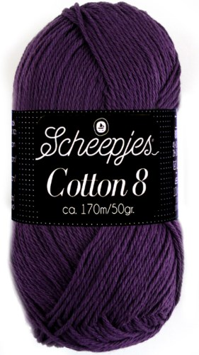 Scheepjes cotton 8 721 donkerpaars