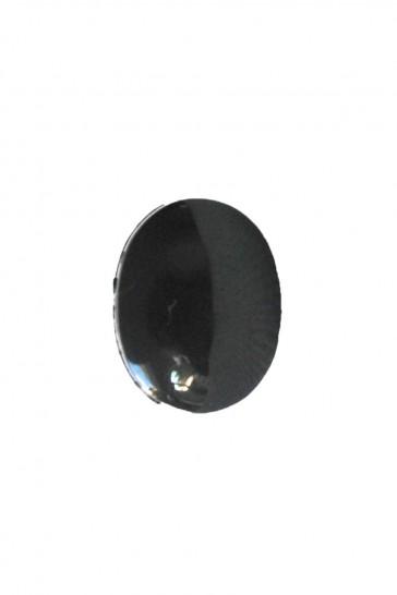 Veiligheidsoog ovaal zwart per paar 8mm