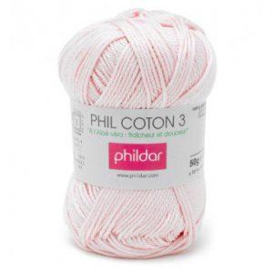 Phildar coton 3 1149 rosee