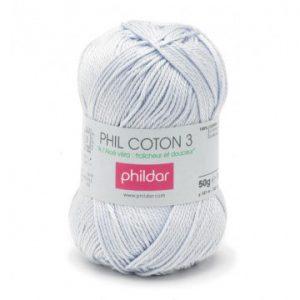 Phildar coton 3 1089 ciel