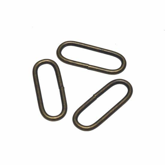 Passant bronskleurig 30mm per 2 stuks-0