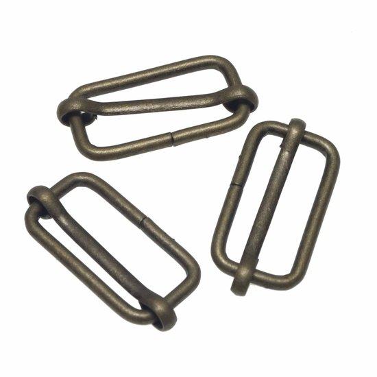 Metalen schuifgesp bronskleurig 30mm-0