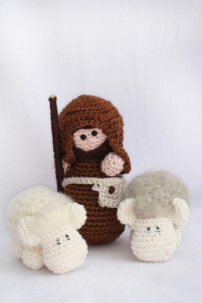 Haakpatroon herder en schaapjes-0