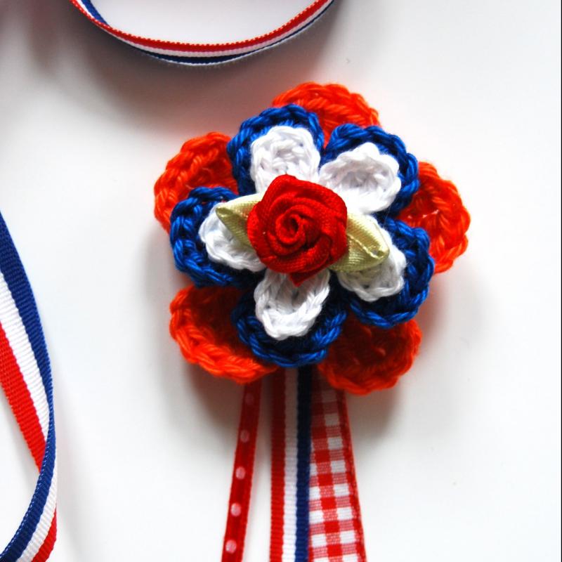 Gratis haakpatroon bloem haken holland broche