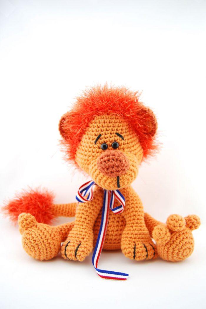 Haakpatroon leeuw oranje-0